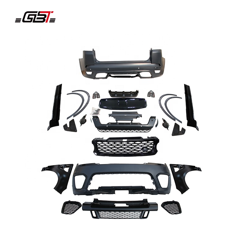 GBT body kit with front&rear bumper plate exhaust pipe and air-inlet grille year 2014-2017 for LAND ROVER RANGE ROVER SVR