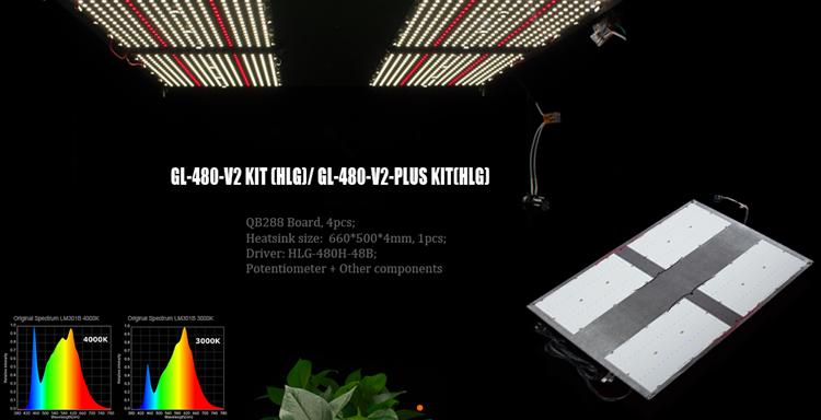 Geeklight 480w quantum board 5x5 grow tent led grow light