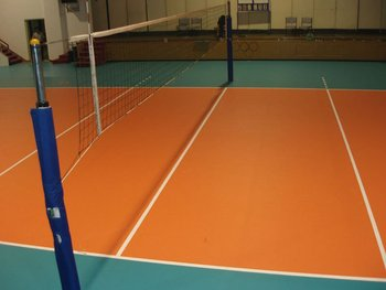 PVC,100% pure pvc Material and Indoor Usage volleyball court vinyl ...