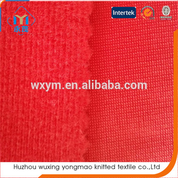 Custom Tricot Brushed Fabric Lining For Insole Shoe Material Helmet