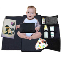 Portable Changing Pad Bundl Waterproof Diaper Clutch Travel Baby Changing Mat Best On The Go Folding Changing Station