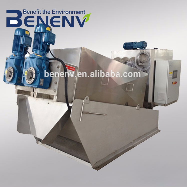 EU Standard screw dewatering machine for wastewater sludge removal