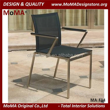MA F14 Wholesale Outdoor Furniture Stainless Steel Arm Chair