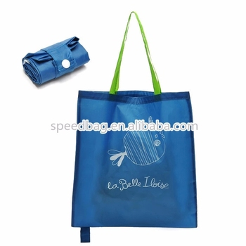 factory professional custom polyester reusable handle folding shopping bag 210D oxford tote pack Hotsale