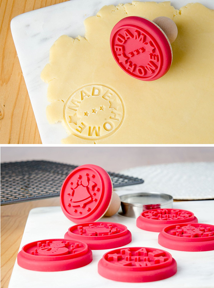 Kerstboom siliconen rubber 3d cookie cutter custom cookie stempel