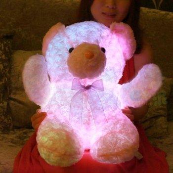 Custom Design Good Quality Light Up Teddy Bear Plush Toy