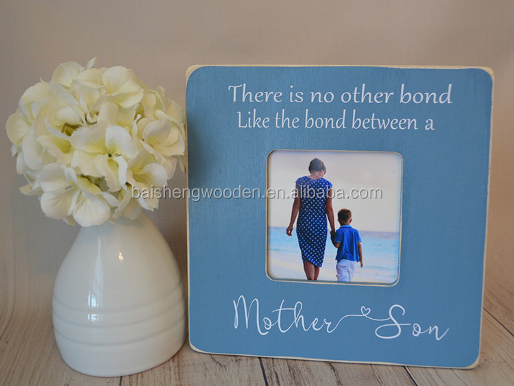 Custom wooden photo frame Mother's day gift personalized picture frame