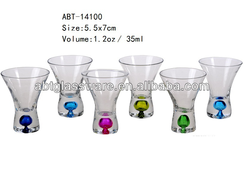 hot new products 2oz shot glass with color ball inside bottom buy hot new products 2oz shot glass with color ball inside bottomball base shot glassfancy - Shot Glass Volume