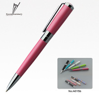 Wholesale business gift pen pink metal pens with custom logo