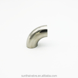 Factory wholesale Stainless Steel Sanitary Elbow 90 degree polished to 320 grit