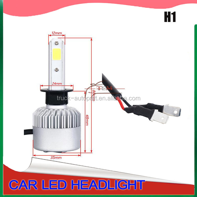auto parts, car lamp hot Super white LED headlight s2 h1 h4 h13 9005 9006 36w 12V 24V 3800LM h7 car led headlight bulbs