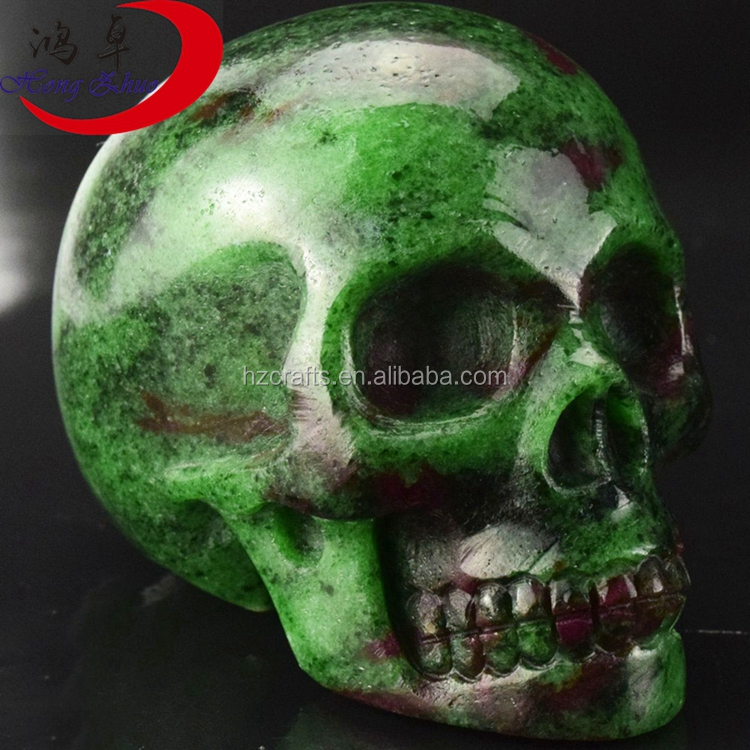 Natural and good quality ruby in zoisite gem stone carving reiki skull quartz <strong>crystal</strong> buyers