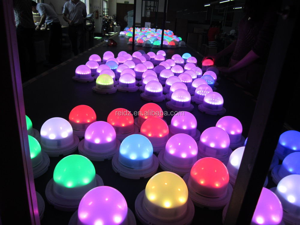 Under Table Light 7color Remote Control Rgb Led Round Big