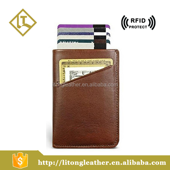 differently 8eb17 e7986 Rfid Protected Real Leather Credit Card Holder Mens Wallet With Smart Pull  Tap - Buy Multi Card Leather Wallet,Pull Tap Card Holder Wallet,Rfid Wallet  ...