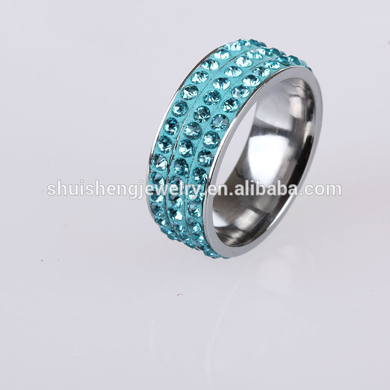 Fashion New Design 3 Row Aquamarine Crystal Stone Aquamarine Ring ...