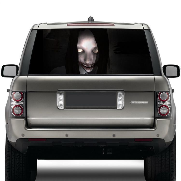 New Hot High Beam Ghost Sticker Waterproof Rear Windshield - Rear window decals for cars