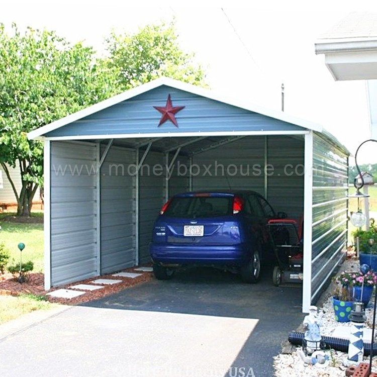 Good selling car park shed low cost aluminum garage easy for Garage low cost