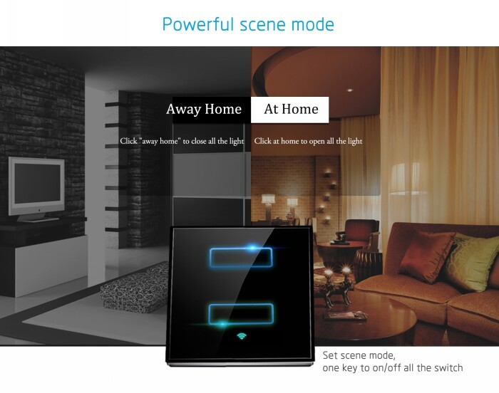 US touch wifi smart wall light switch wireless remote control wifi smart home automation products