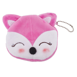 F174 Accessories Pink Cat Kitten Plush Novelty Coin Purse Keychain Bag Charm Wallet Cat Coin Purse