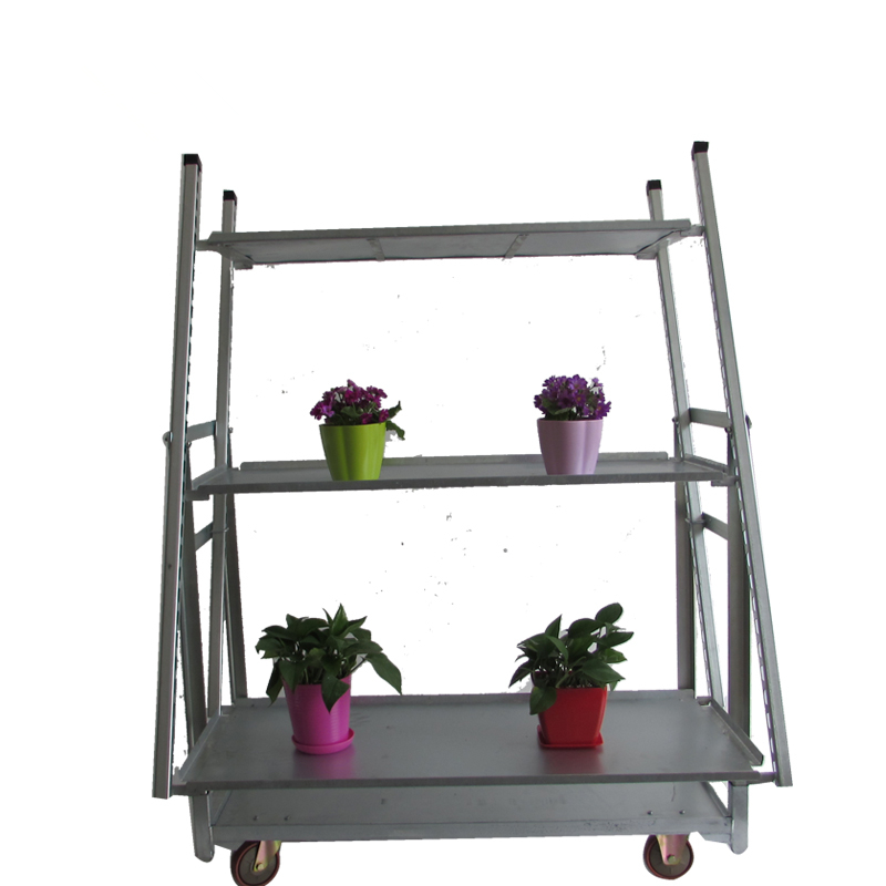 Nursery Plant Net Layer Flower Trolley Cart For Carts Growing Seedling Product On