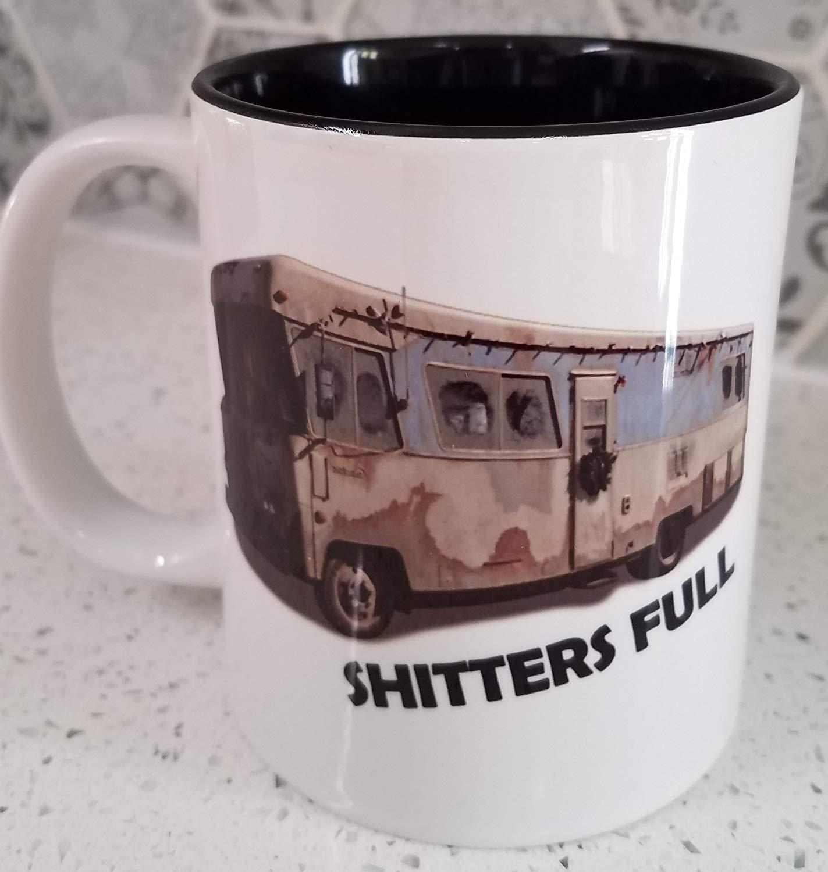 Shitters Full Coffee Mug 12oz Color RV | Cousin Eddie | Funny Christmas Coffee Mug | griswold rv | Christmas Vacation | Lampoons | Funny Coffee Mug | White Elephant Gift | Secret Santa | Motor home