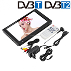 Portable DVB-T2 TV 12 inch Color LCD Television Suitable For Car 12v Power Supply