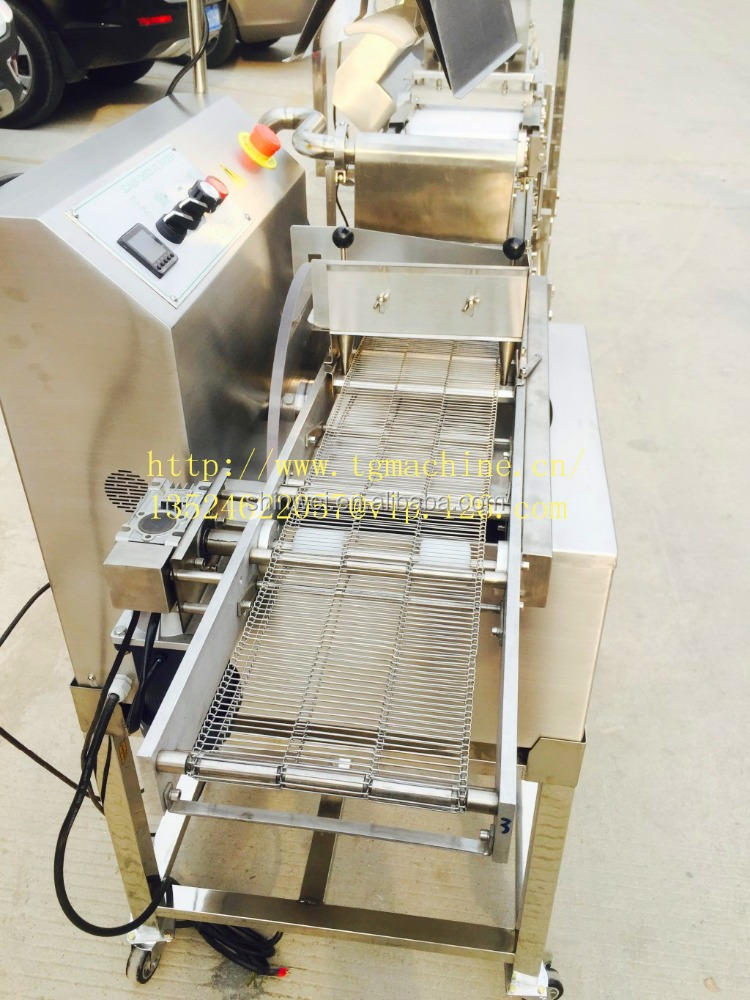 Mini Chocolate enrobing machine with cooling tunnel