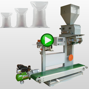 Automatic Flour Rice Silage Lime Soil Corn Pepper Powder Compost Guar Gum Paper Bags Packing Machine For 2 5 25 50Kg