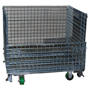 wire cage metal bin container heavy duty storage bins
