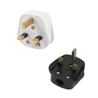 13A uk Black/White 3 Pin UK Mains Top Plug 13A 13 AMP Appliance Power Socket Fuse Adapter Household