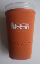 manufactory vendor 24OZ dunkin donuts neoprene cup sleeve