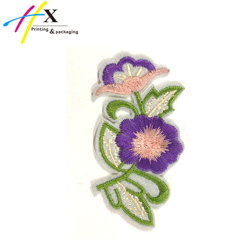 2017 wholesale computer custom iron on /sew on 3d applique embroidery flower patch for blouse/dressing