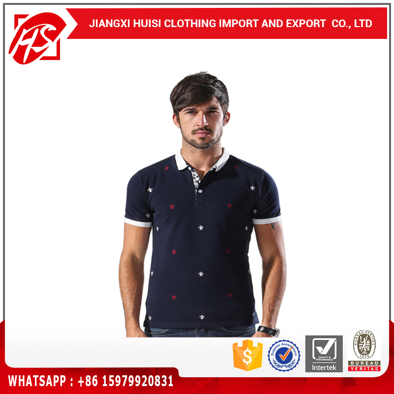 Custom fashion new style men embroideried bulk polo shirts