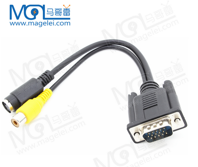 vga To tv Rca S Video Adapter Converter Cable Pc Laptop