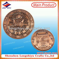 Antique copper plated Turkey style medallions 3D medal coins with your own custom design for commemorative gifts