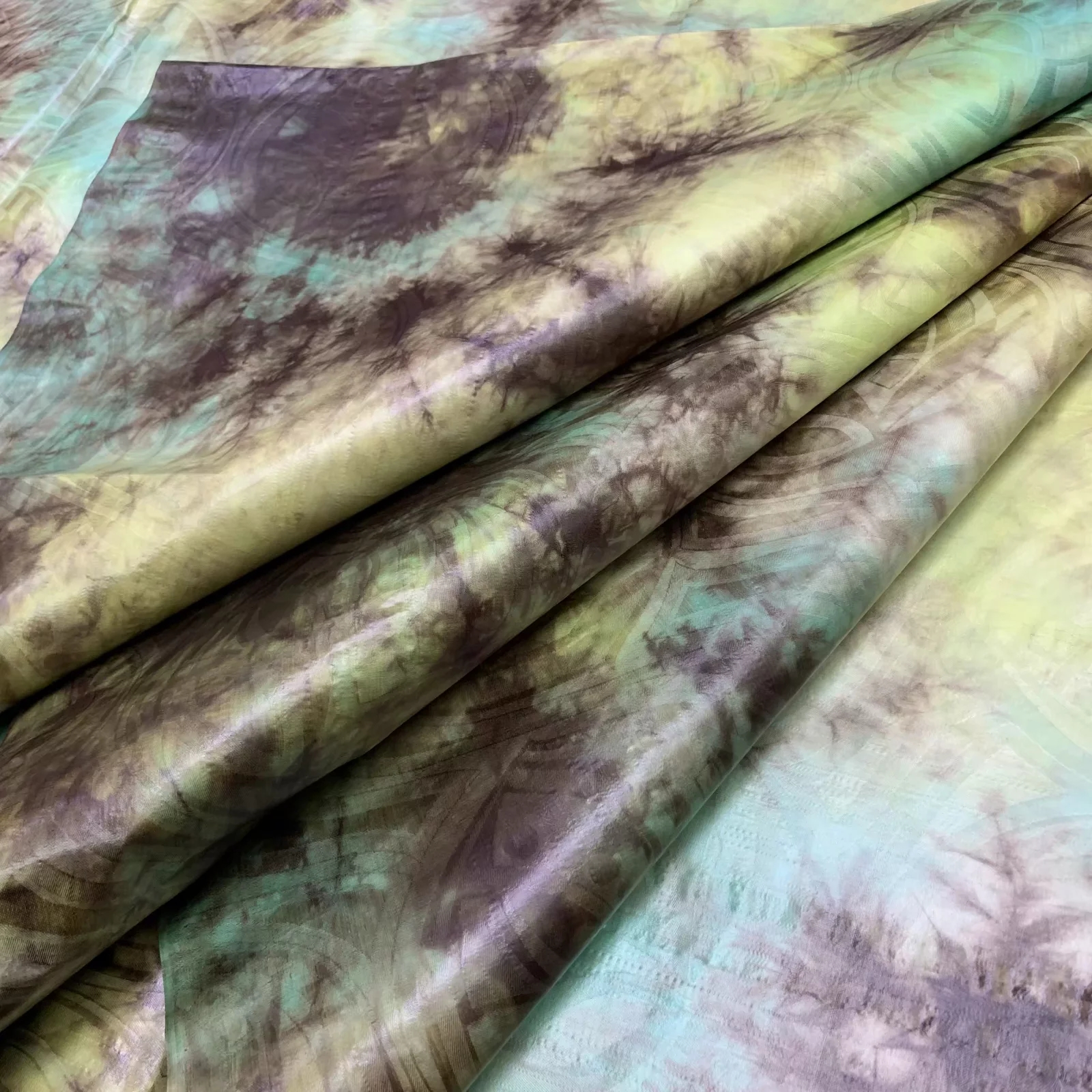 New 2019 beautiful tie dye printed fabric bazin riche getzner