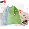 Pure color multi-purpose non woven drawstring shopping bags