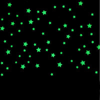 Myway Glow in The Dark Stickers Custom Wall Home Decoration Bedroom Star Moon Fluorescent Sticker