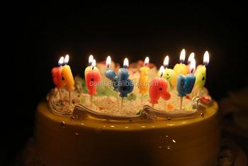Kawaii Little Feet Shape Happy Birthday Candle For Children