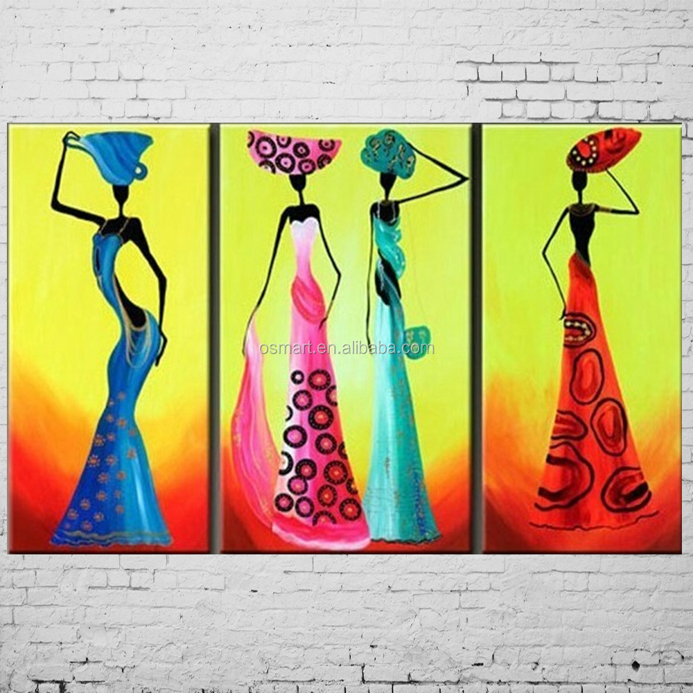Dafen Handmade Abstract African Women Painting Mural Picture On