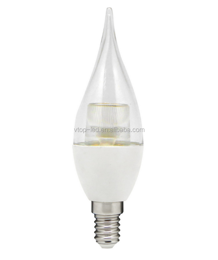 Clear lens E14 Base 5W led flame candle light hot selling to Europe