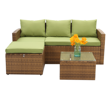 Pleasing Leisure Usage Wicker Small Garden Sofa Set Matching Green Color Cushion Hb41 2648 Buy Best Sofa Set Simple Designs Storage Usage Kd Outdoor Pdpeps Interior Chair Design Pdpepsorg