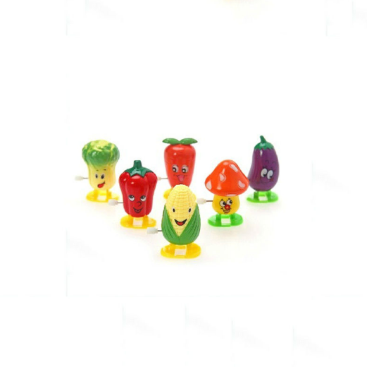 Wholesale wind up toy mechanism cute cartoon vegetable statue wind up toy