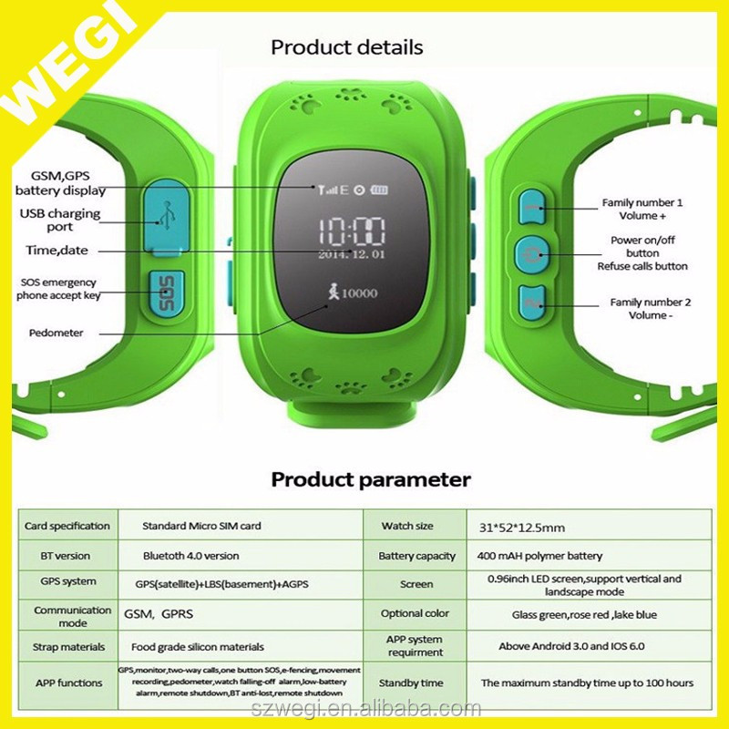 2017 Q50 Kids Smart Watch GPS LBS Double Location Safe Children Watch Activity Tracker SOS Card for Android and IOS best watch