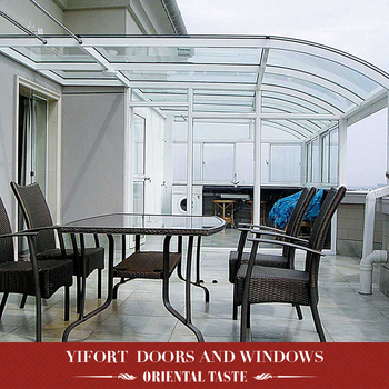 2017 hot sell prefabricated aluminium frame glass house