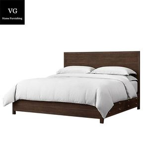 Modern Bed Simple Wooden Bed Big Latest Double Solid Wood Bed Designs