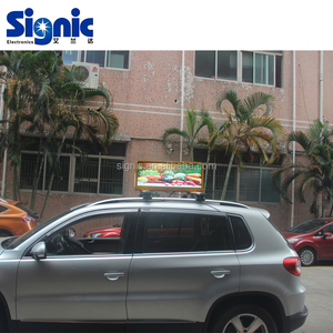 High Brightness Resolution P2.5 P3 Outdoor Digital Taxi Top LED Display Car Roof Top Sign For Outdoor Media Advertising