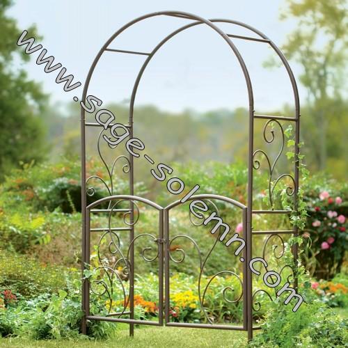 Metal Garden Arbor With Gate