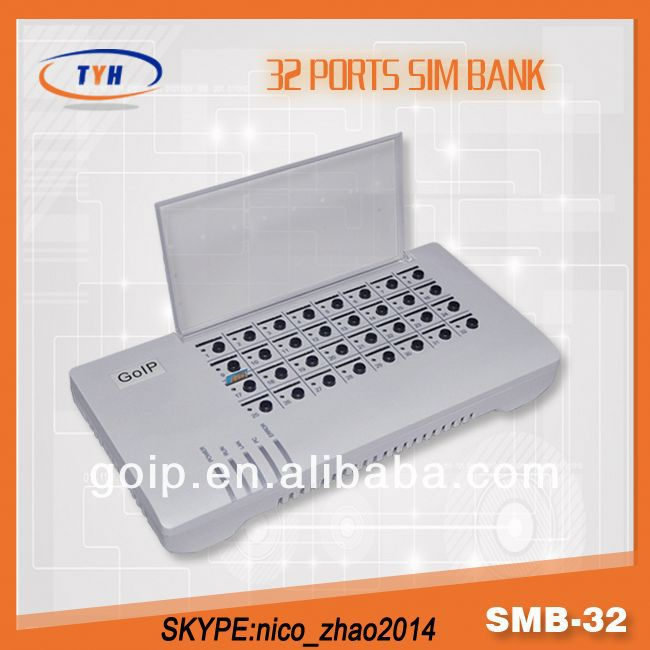 Smb32 SimBank VoIP Phone Services Sim Bank 32 PBX Server Software With Auto Imei Change