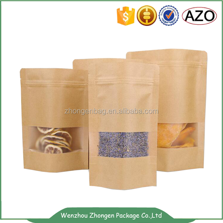 Biodegradable and compostable kraft paper bag